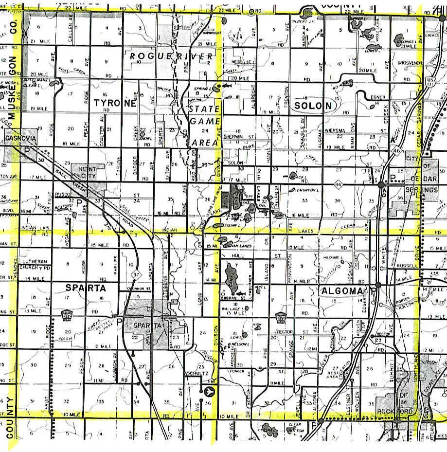 Kent County Township Layout Map